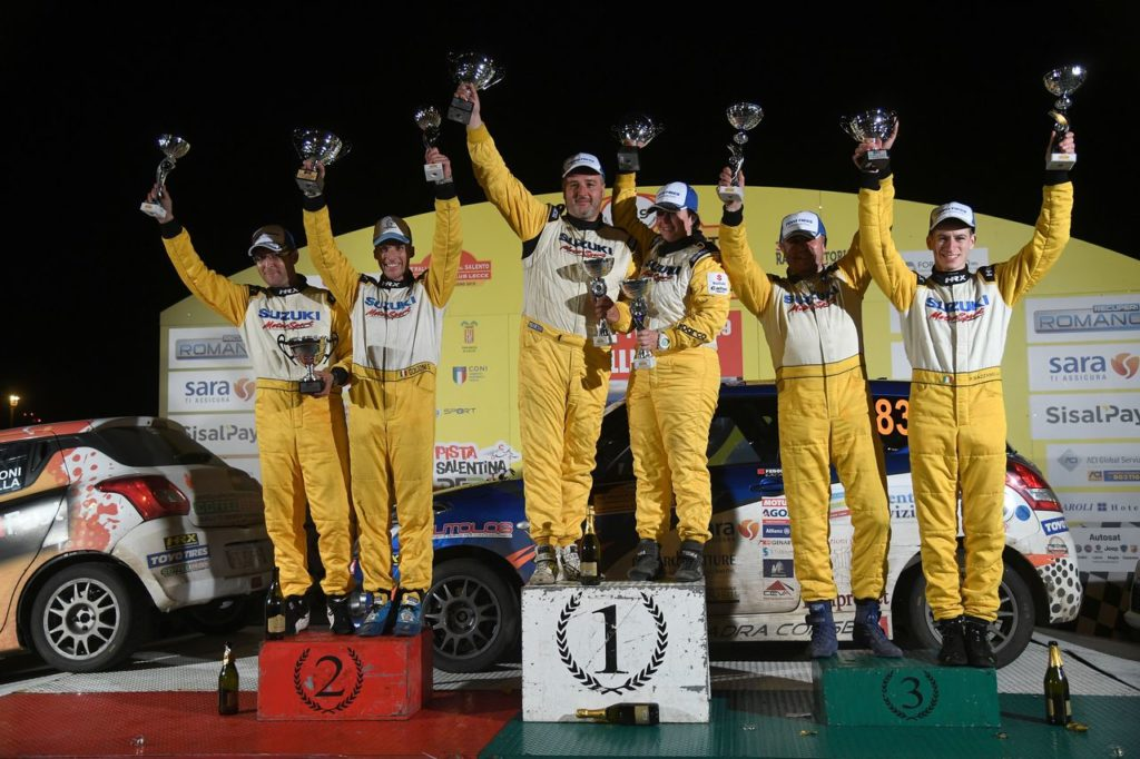 Suzuki Rally Cup | Girone CIWRC: arriva la vittoria per Pellé al Rally Salento