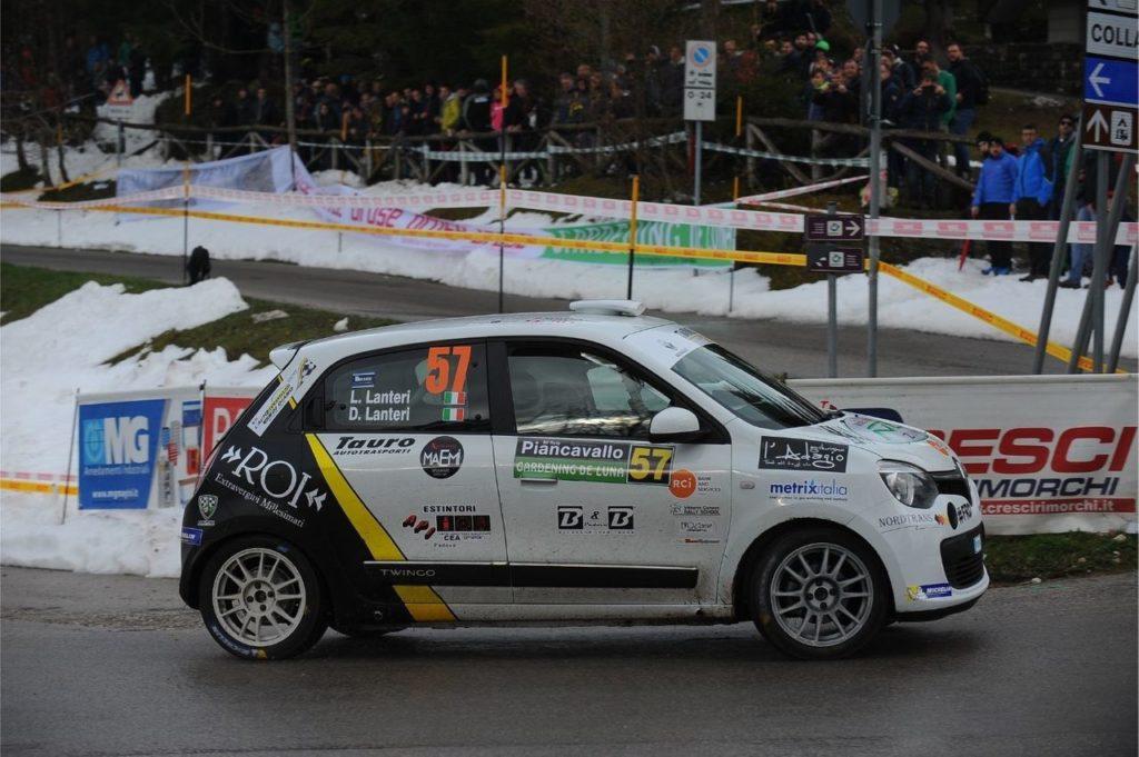 IRC | Trofeo Twingo R1, i Lanteri difendono la loro leadership al Rally del Taro