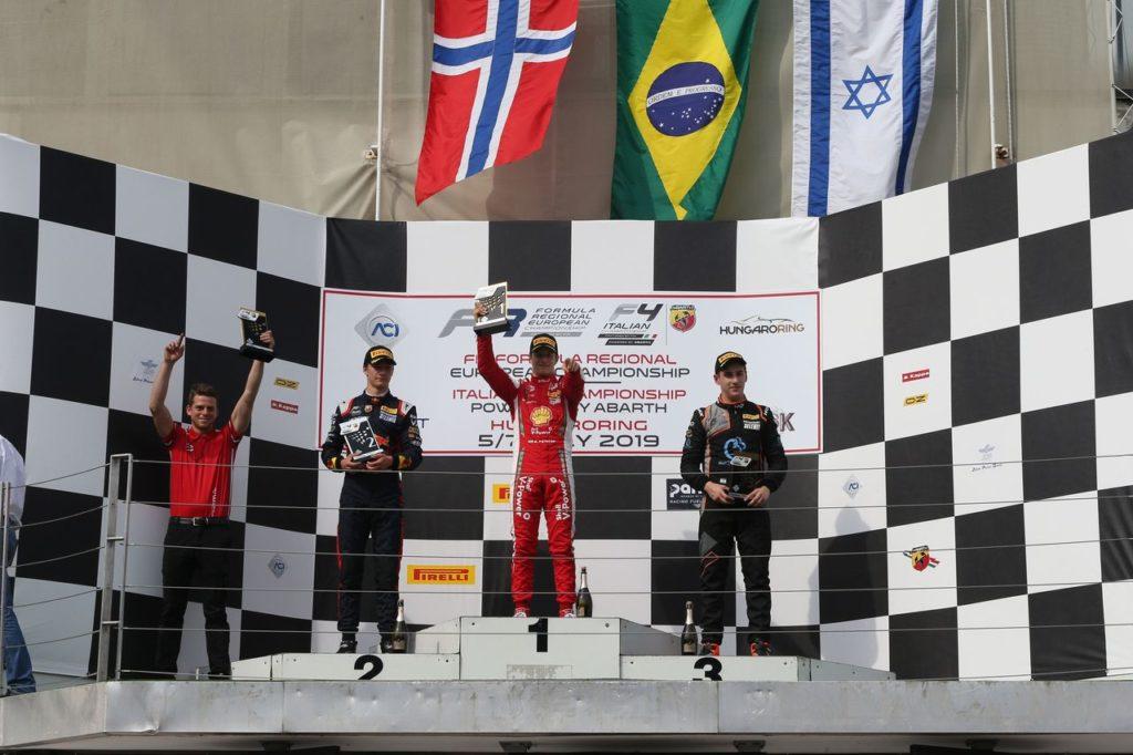 F4 Italia | Hungaroring, Hauger e Petecof si spartiscono le vittorie in Gara 2 e 3
