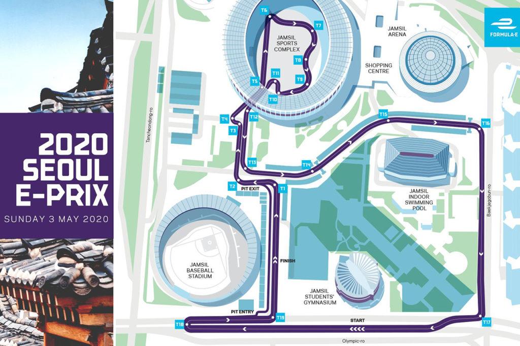 Formula E | Svelato il nuovo tracciato di Seoul, ricavato nell'ex Villaggio Olimpico