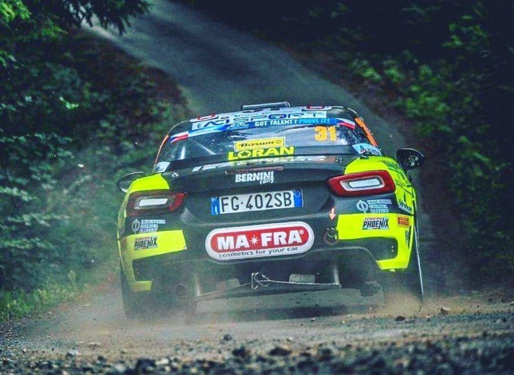 La gara perfetta di Andrea Nucita, vittorioso con l'Abarth nell'ERC2 al Barum Czech Rally Zlin