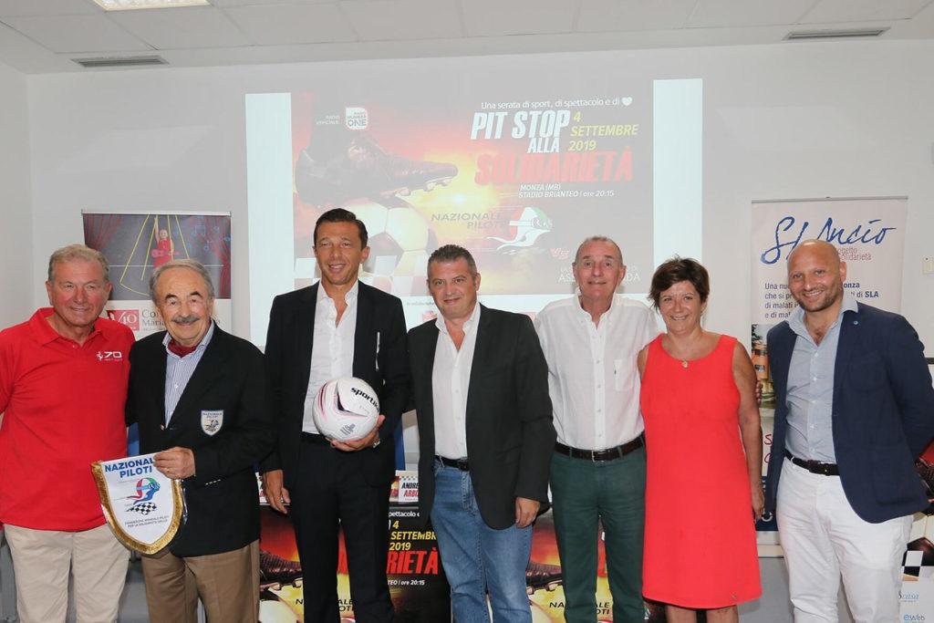 Presentata la quinta edizione della partita benefica fra Nazionale Piloti e Assolombarda a Monza