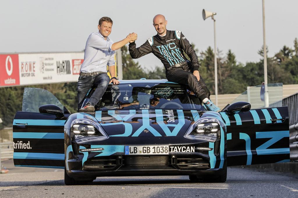 La Porsche Taycan segna il record delle sportive elettriche al Nurburgring Nordschleife
