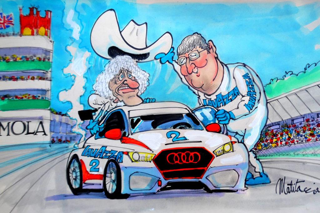 TCR DSG Endurance | Merzario al volante di un'Audi a Imola con Costamagna