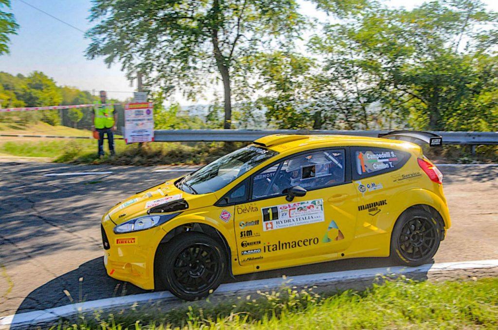 Simone Campedelli si prepara al finale del CIR correndo al Rally Nido dell'Aquila