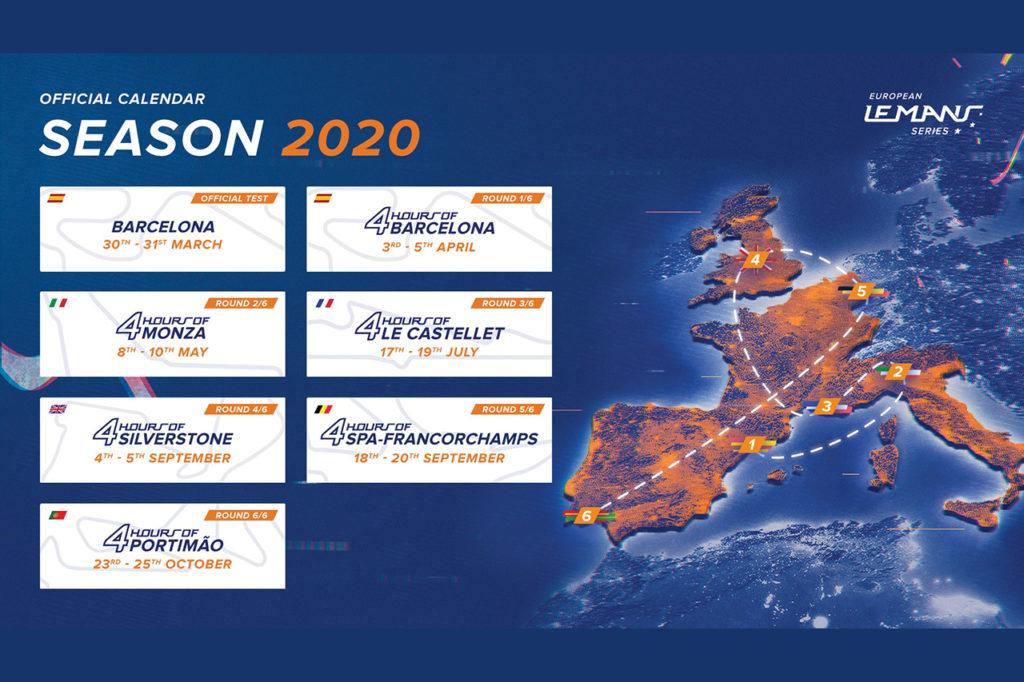 ELMS | Invariato il calendario di sei round anche nel 2020