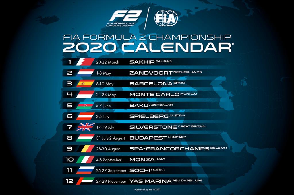 FIA F2 | Svelato il calendario 2020, Zandvoort al posto di Le Castellet