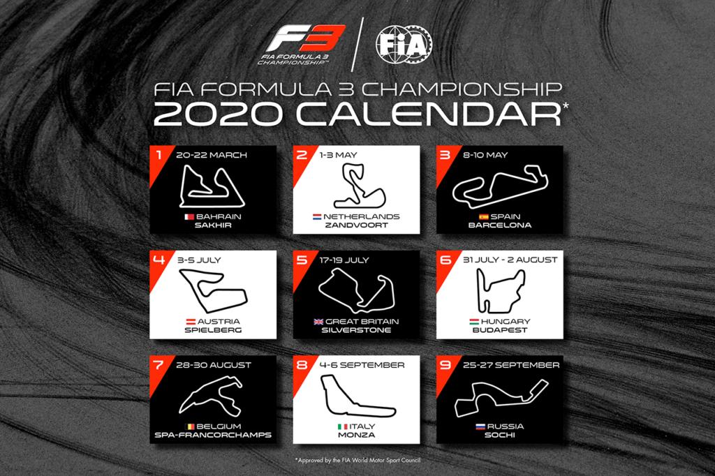 FIA F3 | Ecco il calendario 2020, aumentano a nove gli appuntamenti