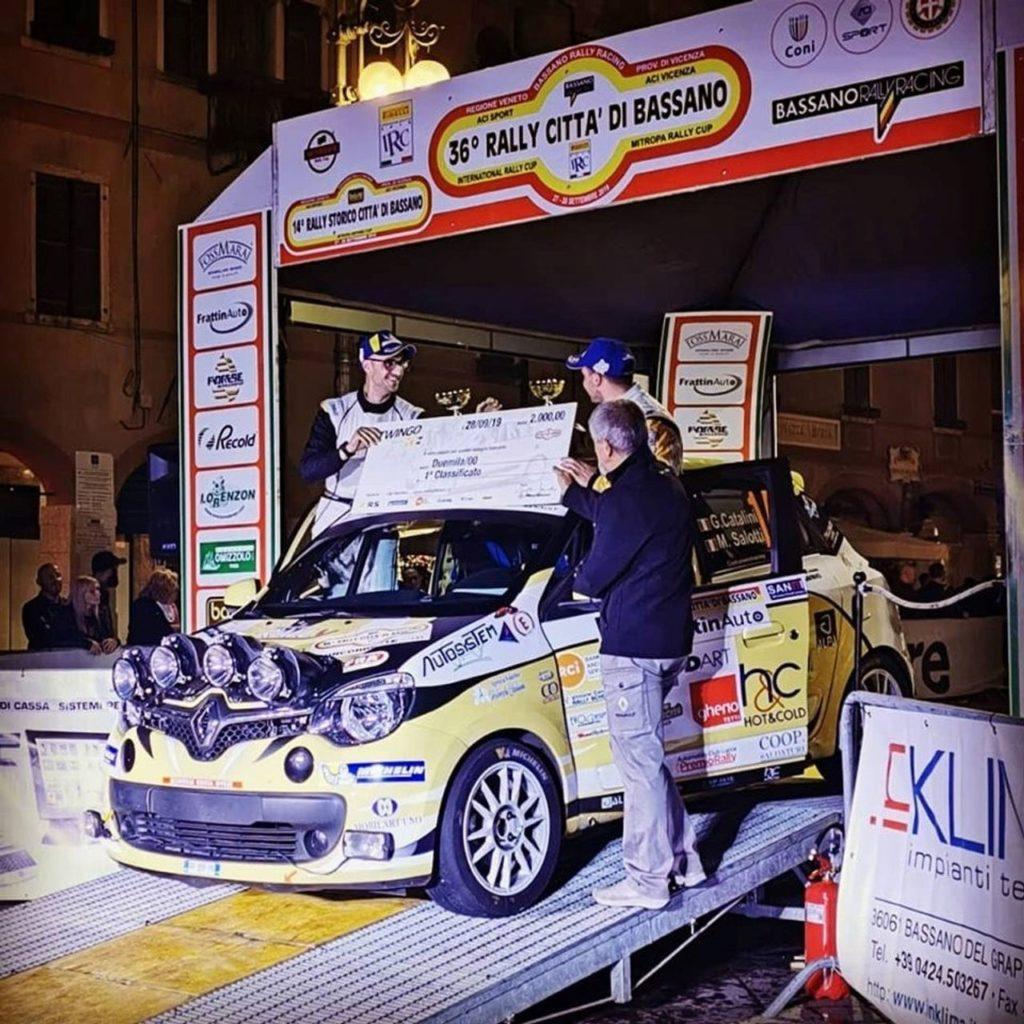 IRCup e Twingo R1, finale di stagione al Rally Bassano. De Tommaso campione assoluto, Catalini del monomarca Renault