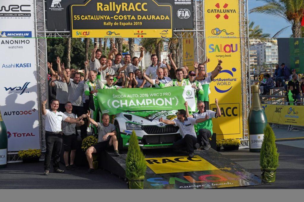 WRC | Skoda Motorsport, arriva il titolo nel WRC2 Pro