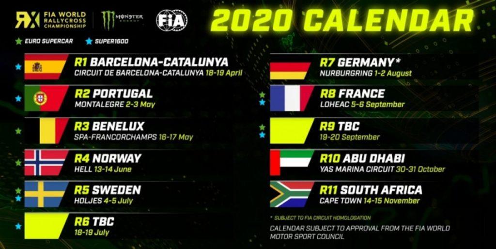 WRX | Il calendario 2020 del Mondiale Rallycross e le tappe della rivoluzione elettrica