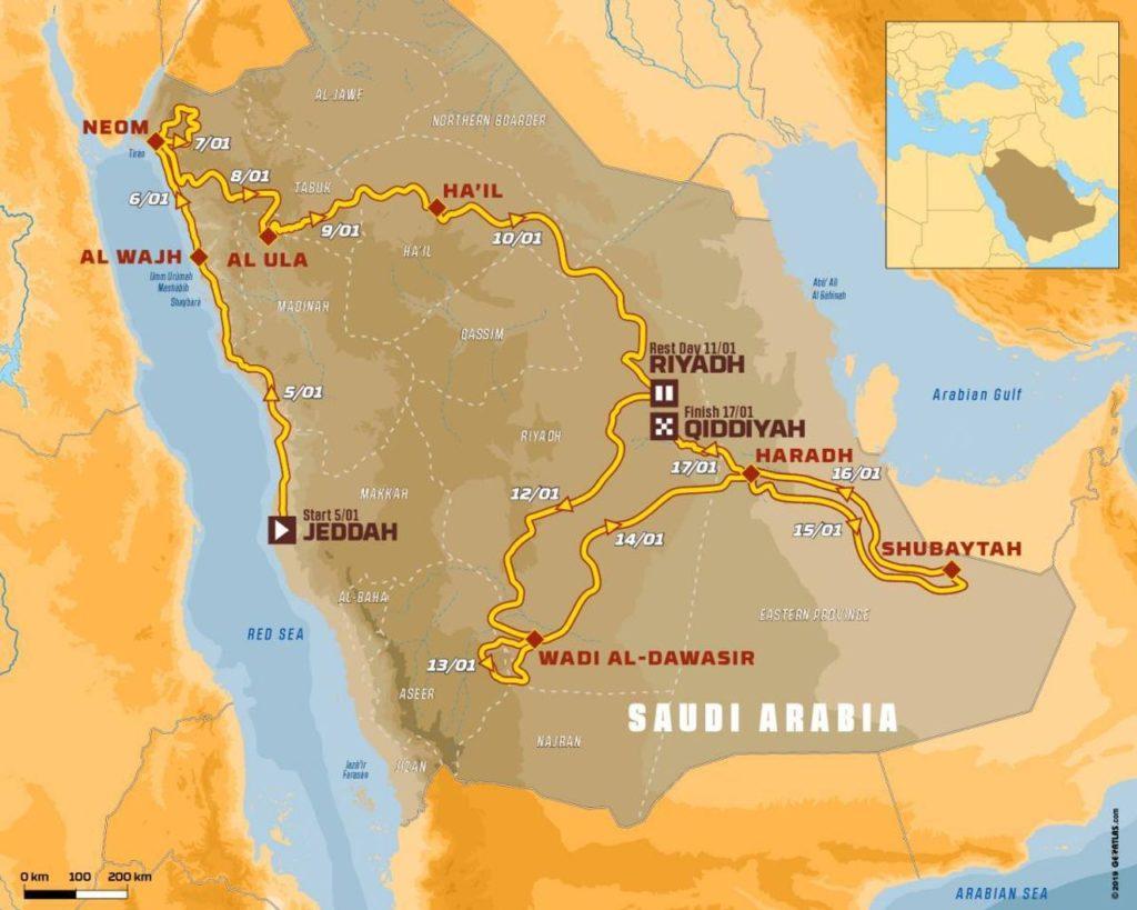 Dakar 2020, i dettagli del percorso e cosa aspettarsi dall'Arabia Saudita