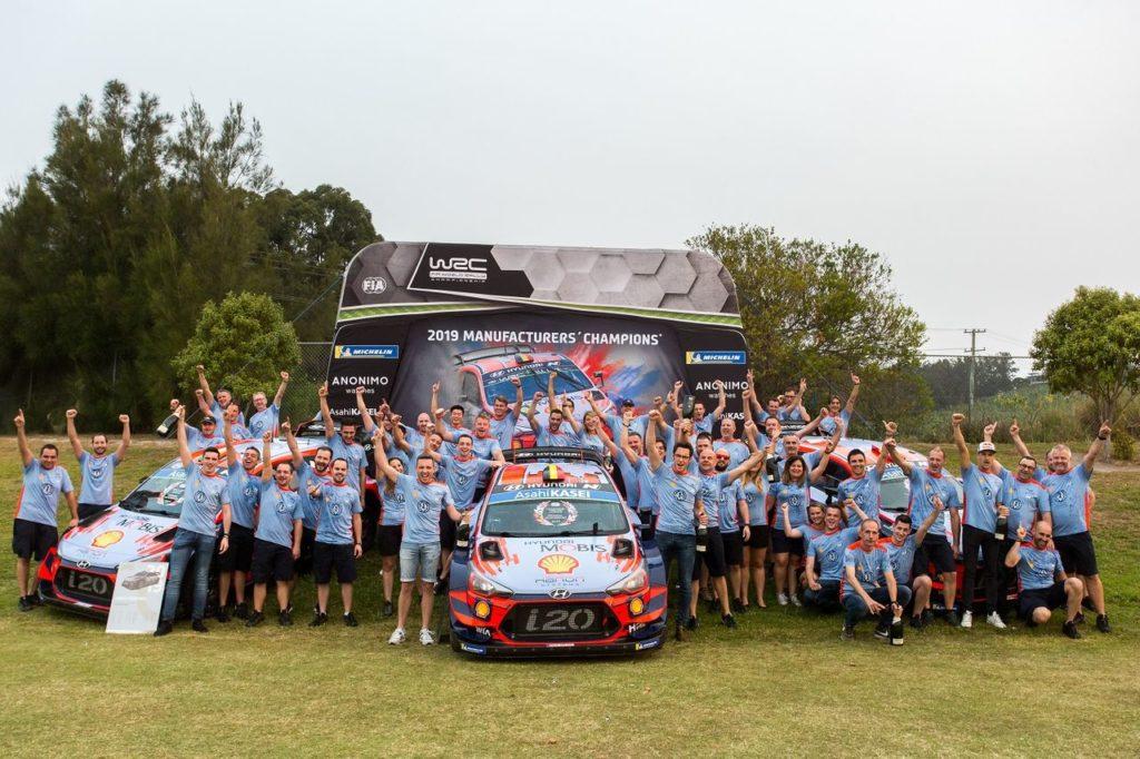 WRC   Hyundai celebra la vittoria del suo team nel Mondiale Rally