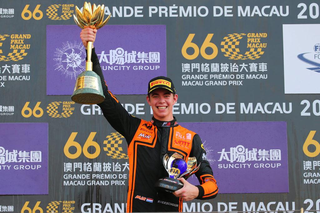 FIA F3 | Macao, Gara: finale da urlo, Verschoor la spunta su Vips