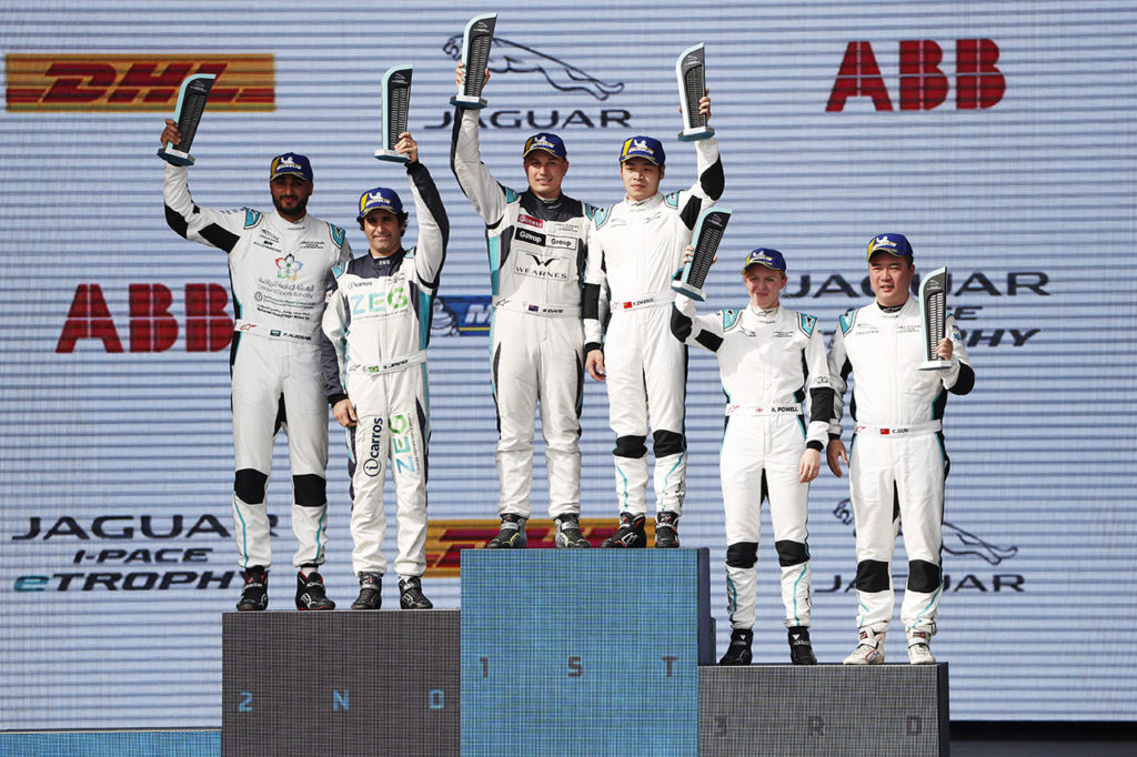 Jaguar I-Pace eTrophy | Evans e Jimenez si dividono le vittorie in Arabia Saudita