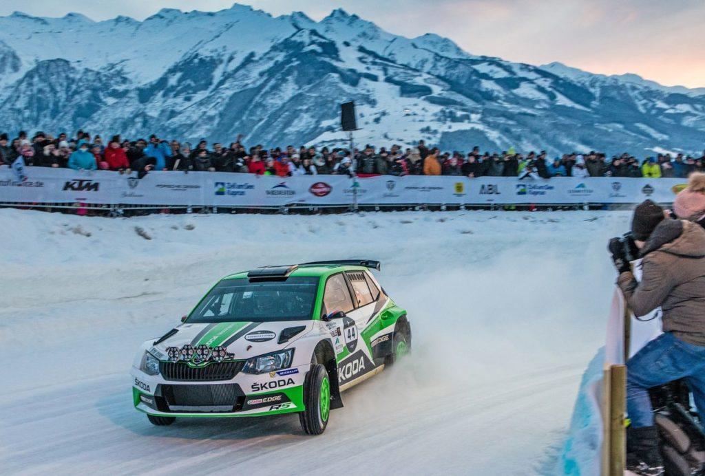 Quattro piloti Skoda Motorsport alla GP Ice Race, a bordo della Fabia Rally2