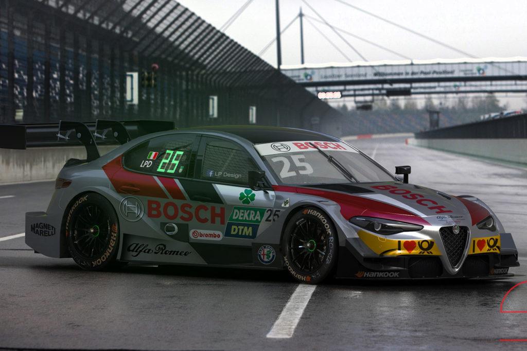 Alfa Romeo Giulia DTM: la fantasiosa livrea Bosch di LP Design [RENDERING]