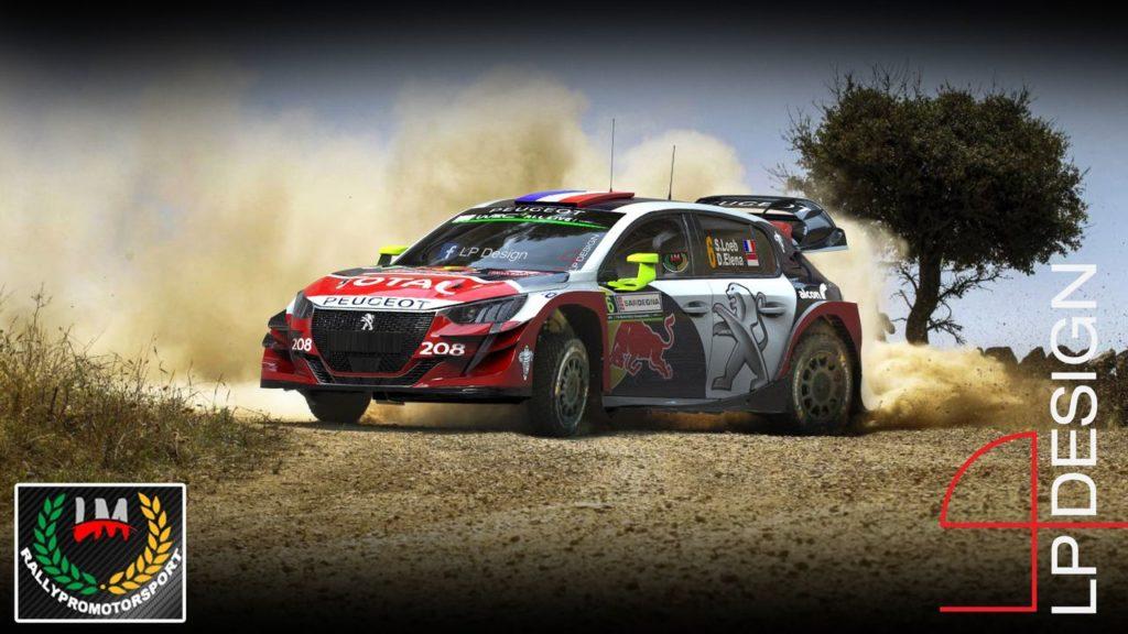 LP Design riprende la Peugeot 208 WRC e la cala nel Rally Italia Sardegna