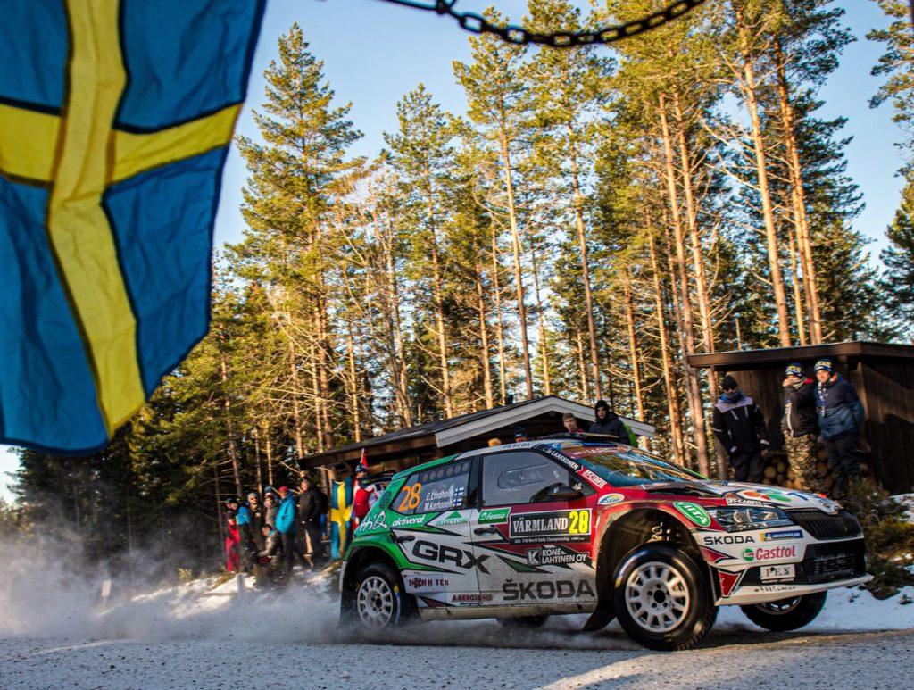 WRC   Skoda Motorsport al Rally Svezia: debutto beffa con la Fabia Rally 2 per Oliver Solberg, Lindholm ad un passo dalla vittoria nel WRC3
