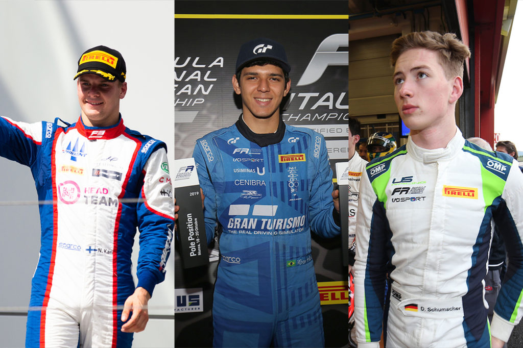 FIA F3 | Kari, Fraga e David Schumacher con Charouz nel 2020