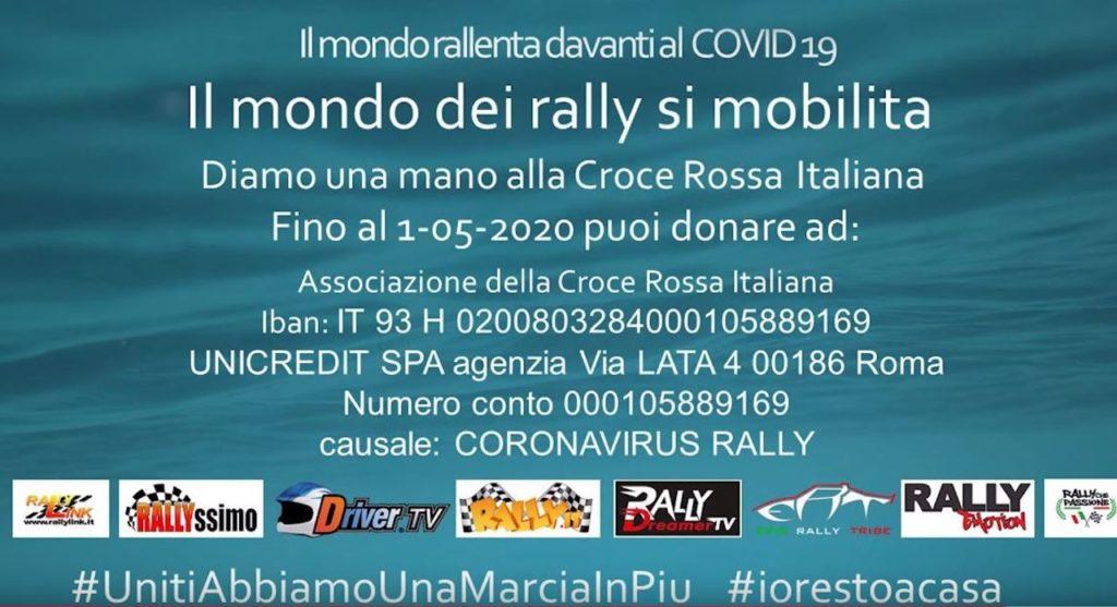 Coronavirus, il mondo del rally si mobilita: parte la campagna #UnitiAbbiamoUnaMarciaInPiu [VIDEO]