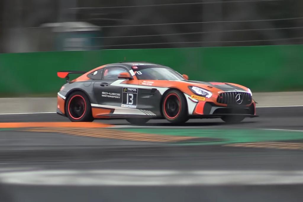 Mercedes-AMG GT4, i test a Monza per preparare la Evo [VIDEO]