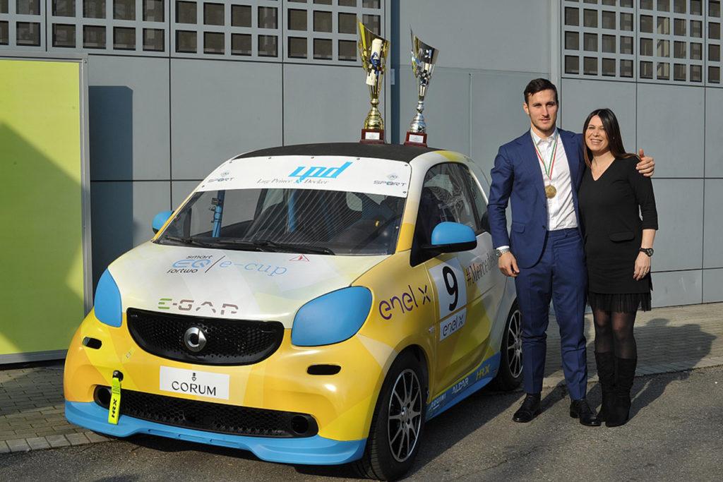 smart EQ fortwo e-cup | Il campione Ghirelli e Sellani confermati da Mercedez-Benz Roma