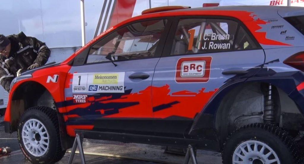 La Hyundai i20 R5 specifica per le gare irlandesi e l'insistenza di Breen per correre al West Cork Rally
