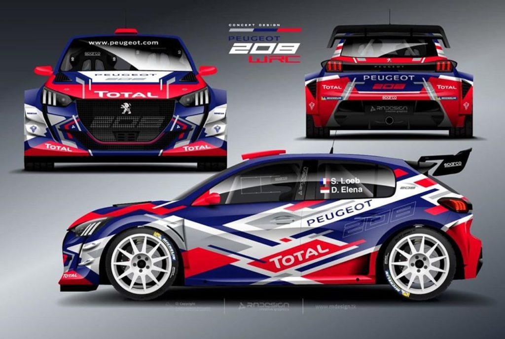 WRC | Un nuovo render per la Peugeot 208 WRC