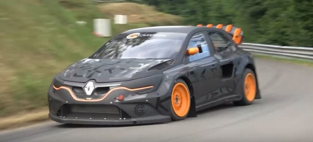 La Renault Megane RS RX di Chicherit in azione durante una cronoscalata [VIDEO]