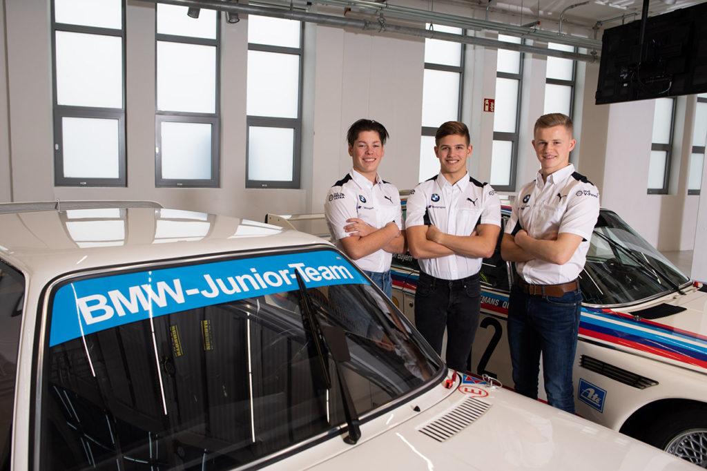 Gli junior BMW Harper, Hesse e Verhagen e l'allenamento da casa per il Nurburgring