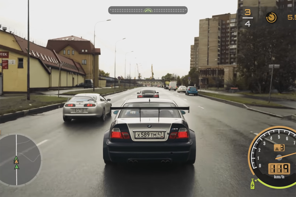 Need for Speed Most Wanted e la BMW M3 GTR nella vita reale [VIDEO]