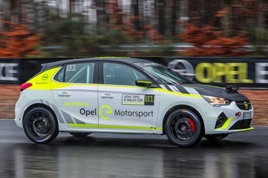 Opel Corsa-e Rally, lo sviluppo continua. Marijan Griebel impegnato nei test