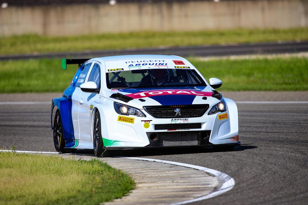 Peugeot 308 TCR, ritorno in pista a Cervesina con Arduini e Bodega