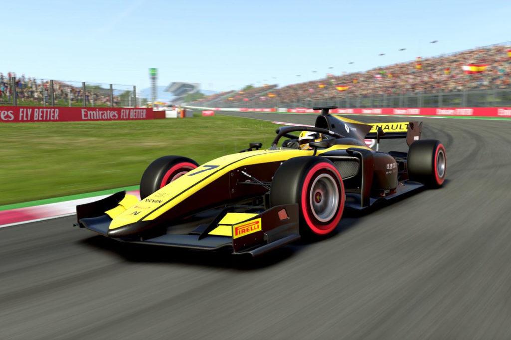 FIA F2 | Virtual Racing, Barcellona: Zhou tampona e vince, Gara 2 a Nato