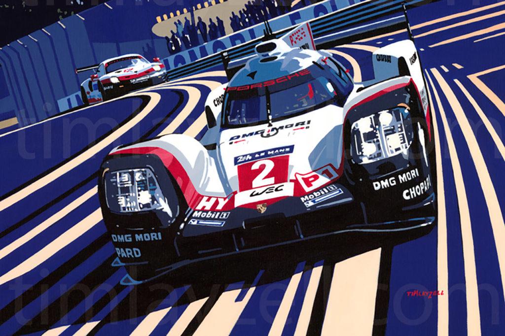 Tim Layzell, l'artista che realizza opere d'arte di auto sportive e di Porsche
