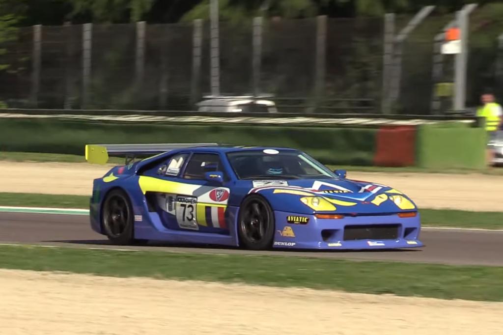 Venturi 600 LM GT1 Art Car, l'arte francese rinasce sulla pista di Imola [VIDEO]