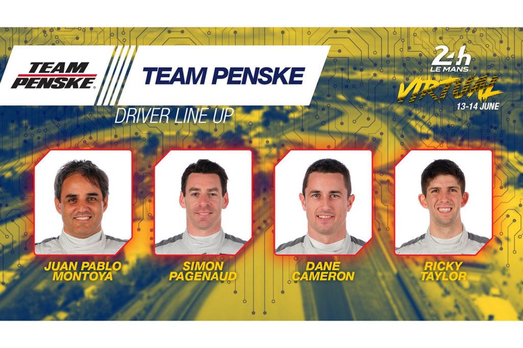 WEC | 24 Ore di Le Mans virtuale: ecco l'armata di Penske, al via anche Gasly con Veloce