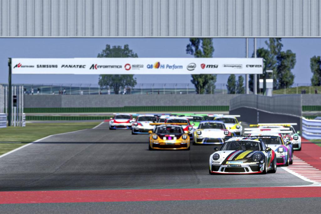 Porsche Carrera Cup Italia | Tripletta di De Salvo a Misano nella serie Esports