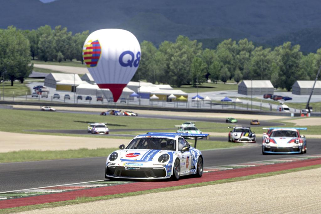Porsche Carrera Cup Italia   Quaresmini centra la prima vittoria nella serie Esports al Mugello