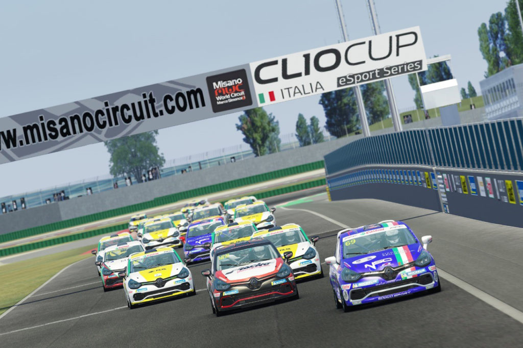 Clio Cup Italia | Altro dominio di Zeni nel terzo round della eSport Series a Misano