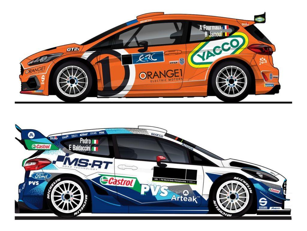 ERC | M-Sport, le livree delle Ford Fiesta di Fourmaux e Pedro per il Rally di Roma Capitale