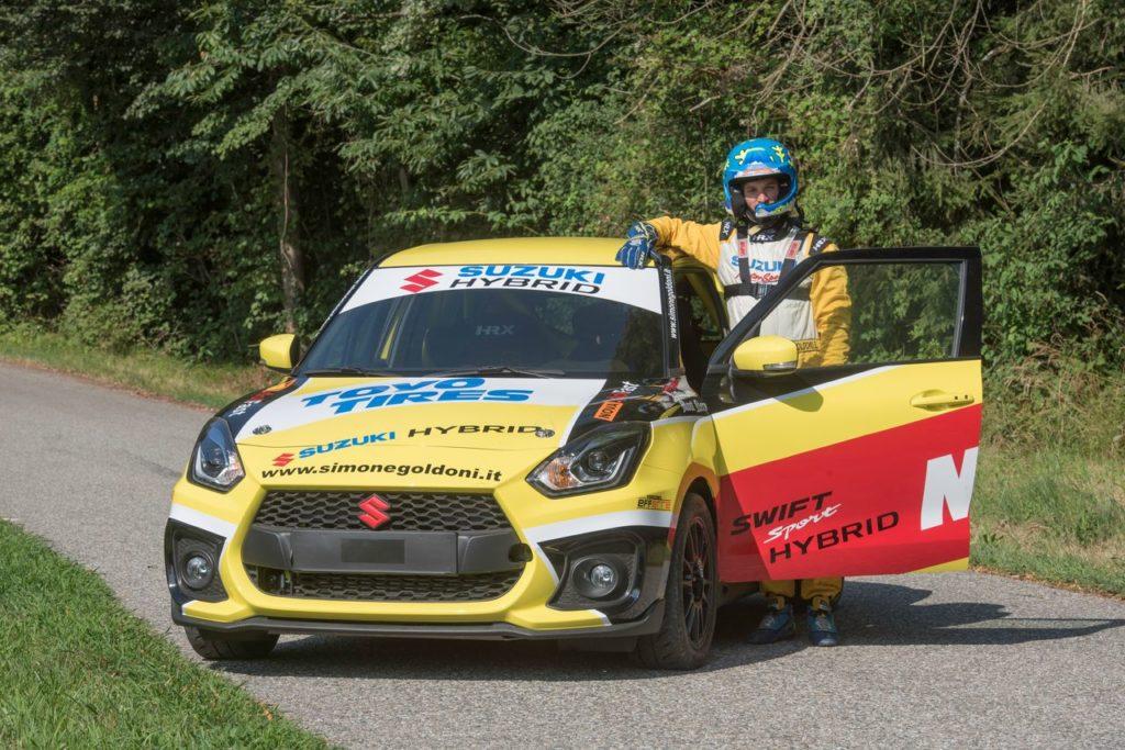 Rally Lana, Simone Goldoni commenta l'esordio della Suzuki Swift Sport Hybrid R1