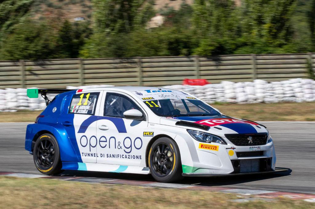 La Peugeot 308 TCR a podio nel primo round del Trofeo Super Cup a Magione con Arduini e Bodega