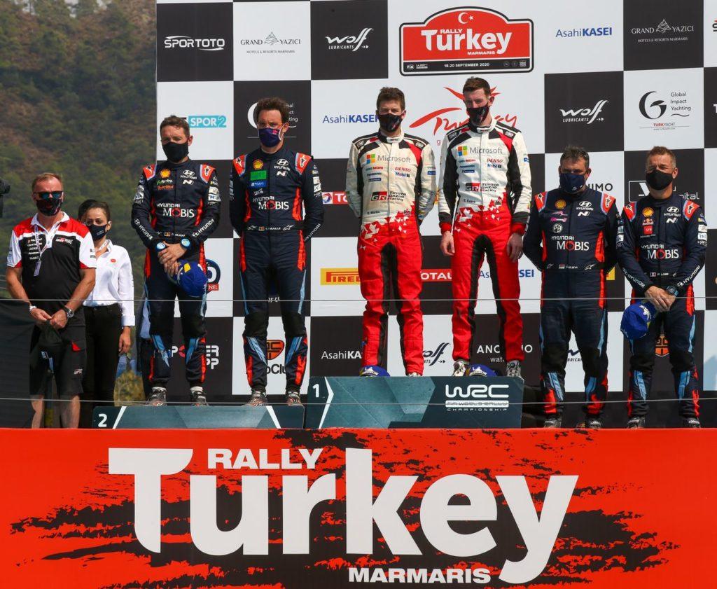 WRC | Rally di Turchia 2020, torna alla vittoria e alla leadership Elfyn Evans. Hyundai completa il podio