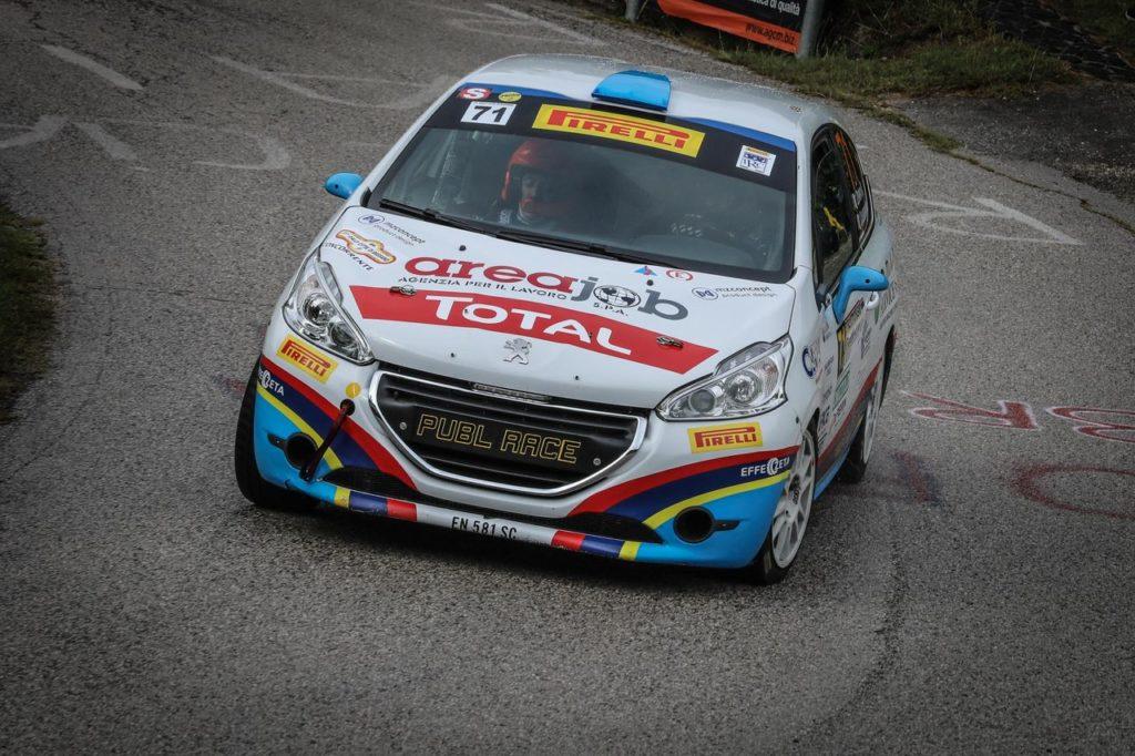 Peugeot Competition | 208 Rally Cup Pro, Zorra lascia il segno al Rally Bassano ed assume la leadership