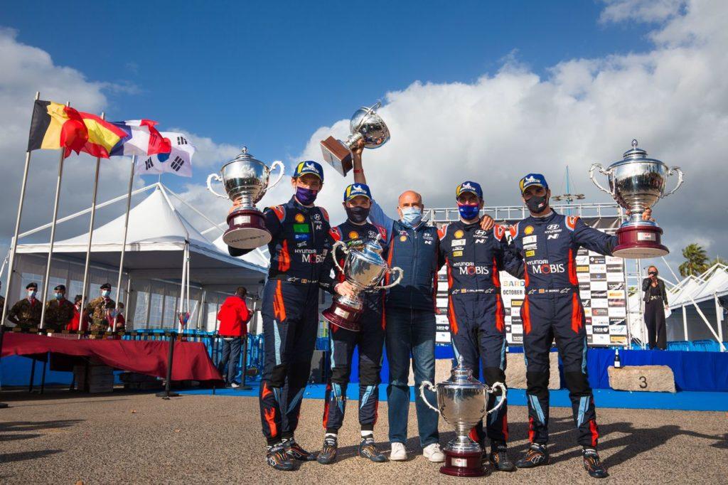 WRC | Rally Italia Sardegna 2020, la doppietta sul podio di Hyundai e il ritorno in testa alla classifica costruttori