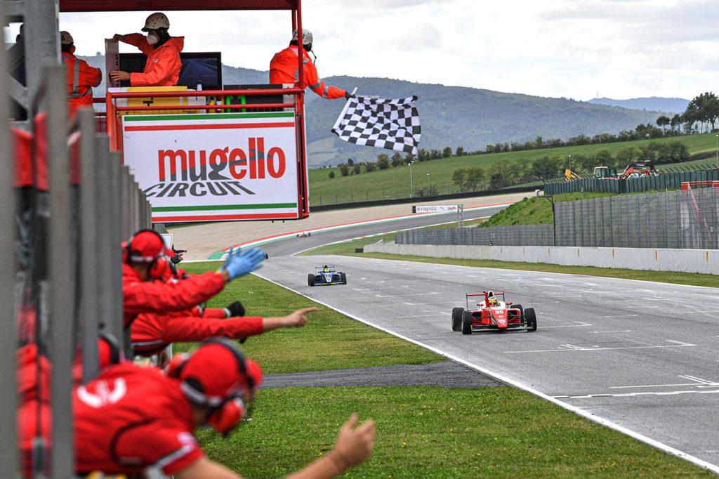 F4 Italia | Mugello, Gara 2: prima vittoria di sempre (e sul bagnato) per Bortoleto