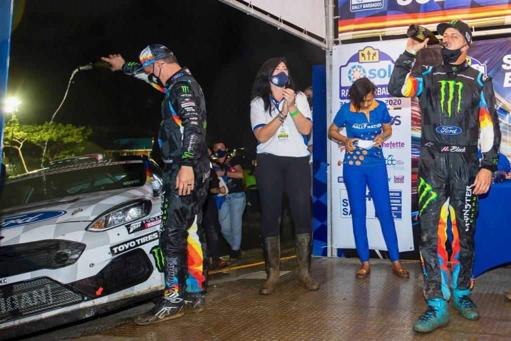 Ken Block, debutto vincente con la Ford Fiesta Rally2 alle Barbados