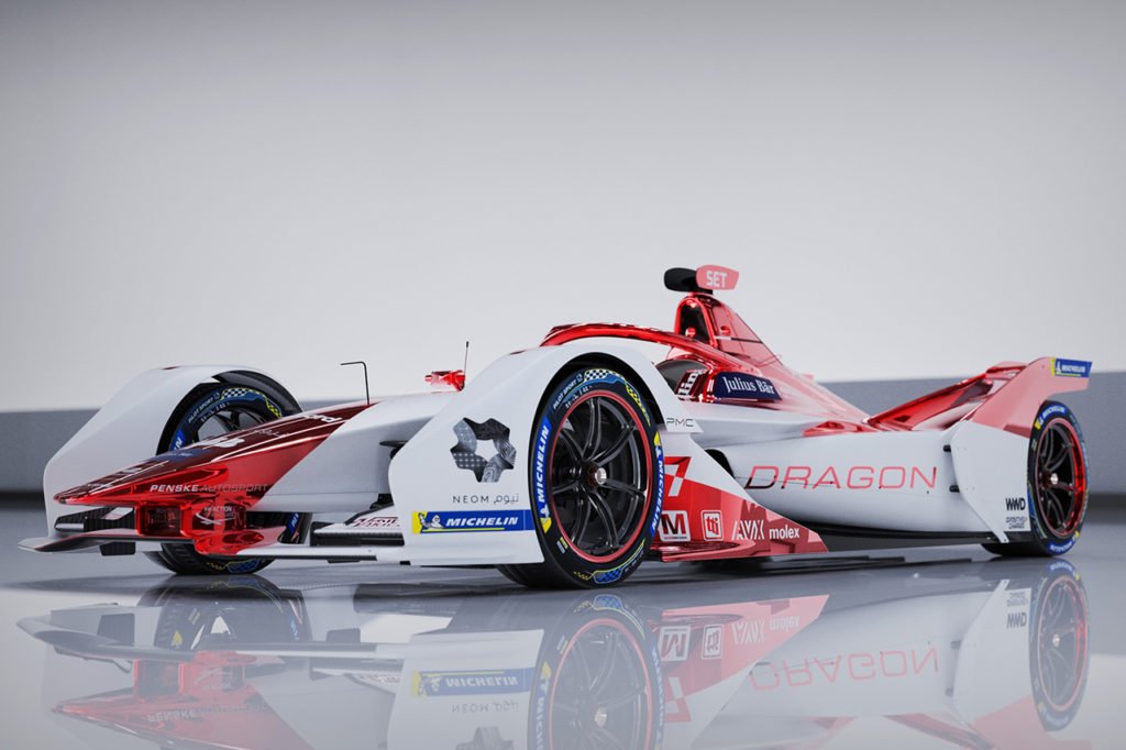Formula E   Dragon/Penske Autosport fa sul serio: livrea biancorossa per la stagione 2020-21